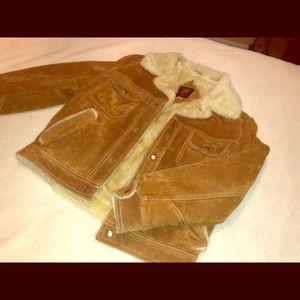 Vintage fuzzy bomber jacket